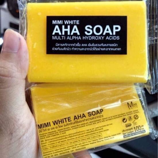 3X MINI WHITE AHA SOAP